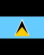 St Lucia Courtesy Flag