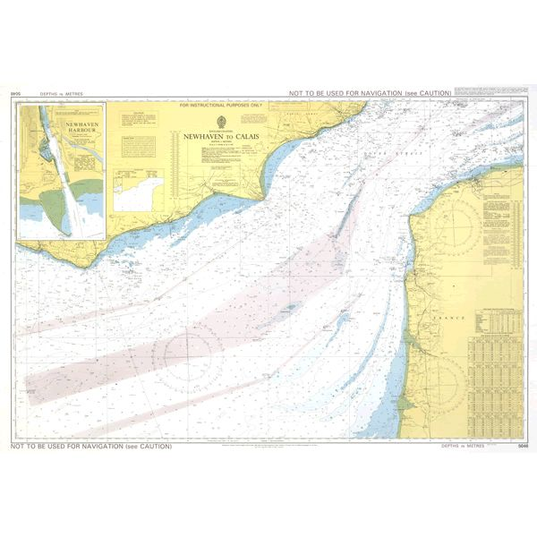 Leskaart Chart BA 5046: English Channel - Newhaven To Calais