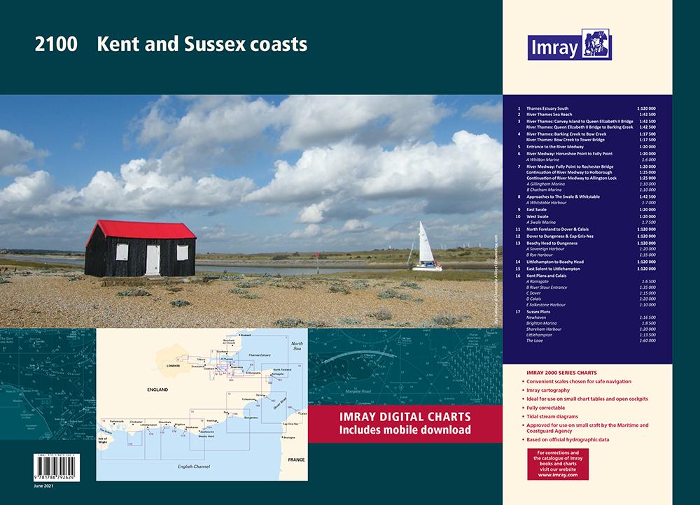 Imray 2100 Kust van Kent en Sussex