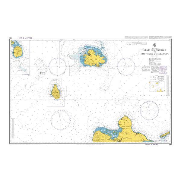 Saint Barthelemy to Antigua UKHO BA Chart 584
