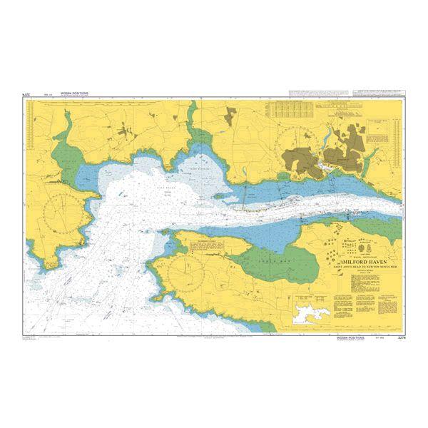 Admiralty Chart 3274 Milford Haven Saint Anns Head To Newton