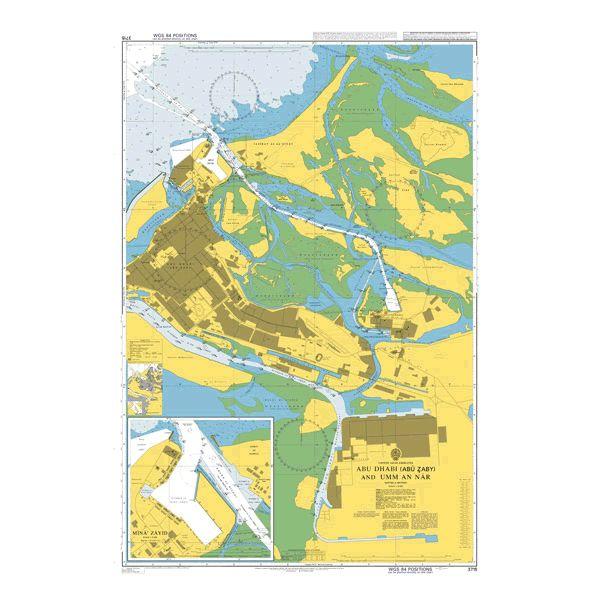 Admiralty Chart 3715: Abu Dhabi (Abu Zaby) Sas an Nakhl and Musaffah