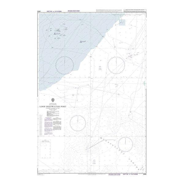 admiralty chart 3856 loop deepwater port louisiana offshore oil port