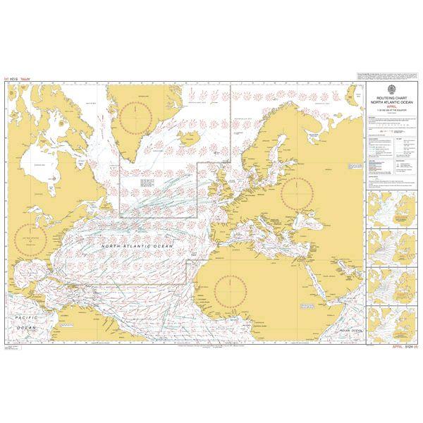 ROUTEING CHART MEDITERRANEAN /& BLACK SEAS 4 Admiralty Chart 5146 2015 APRIL