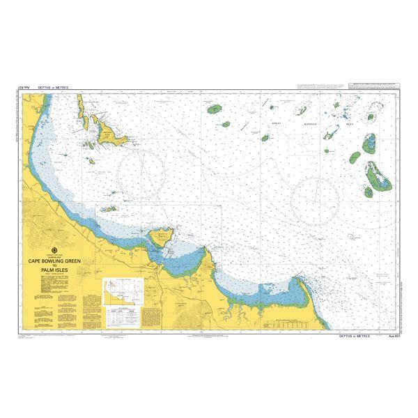 magasin d'usine conception de la variété prix raisonnable Admiralty Chart AUS0827: Cape Bowling Green to Palm Isles