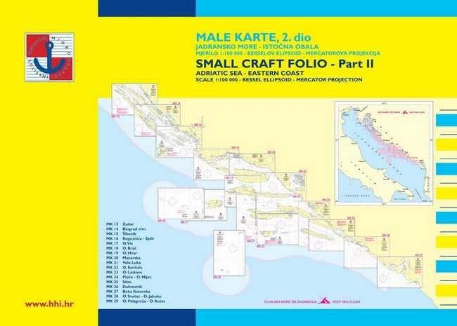 Croatia Male Karte 2 Zadar To Ulcinj Croatian Hydrographic Office