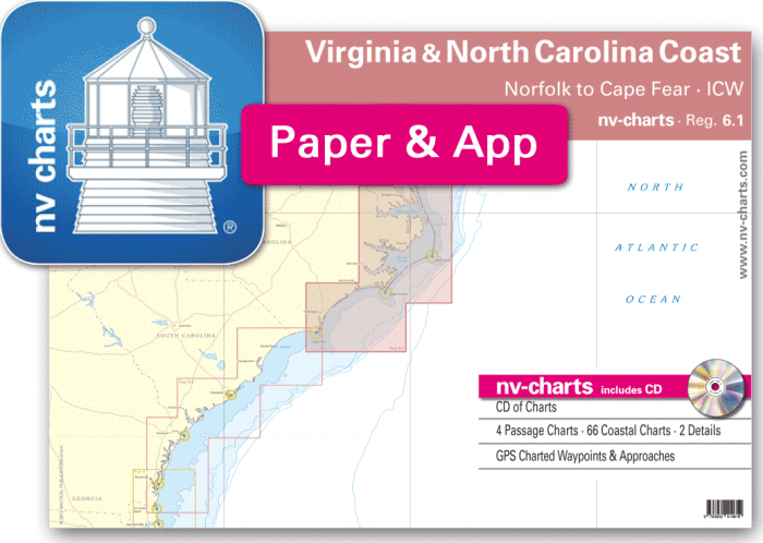 Nv Chart Pack Nv Charts Reg 61 Virginia North Carolina Coast
