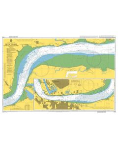 Admiralty Chart 1186: River Thames Canvey Island to Tilbury