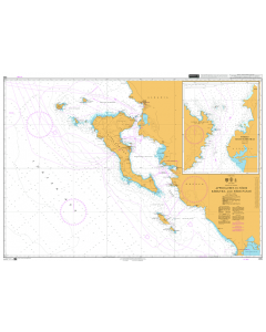 ADMIRALTY Chart 205: Approaches to Nisos Kerkyra and Nisoi Paxoi