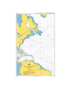 ADMIRALTY Chart 4013: North Atlantic Ocean Western Part