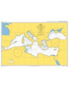 Admiralty Chart 4300: Mediterranean and Black Seas