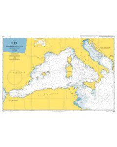 ADMIRALTY Chart 4301: Mediterranean Sea - Western Part