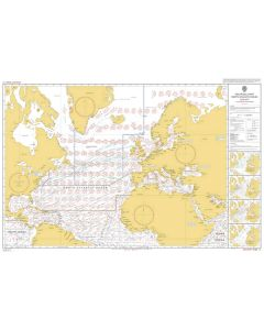 ADMIRALTY Chart 5124(1): Routeing Chart North Atlantic Ocean - January