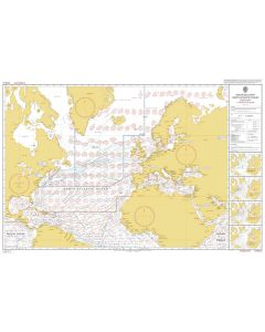ADMIRALTY Chart 5124(2): Routeing Chart North Atlantic Ocean - February