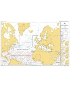 ADMIRALTY Chart 5124(3): Routeing Chart North Atlantic Ocean - March