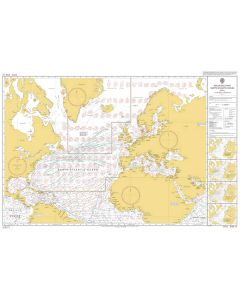 ADMIRALTY Chart 5124(4): Routeing Chart North Atlantic Ocean - April
