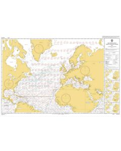 ADMIRALTY Chart 5124(5): Routeing Chart North Atlantic Ocean - May