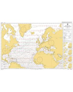 ADMIRALTY Chart 5124(7): Routeing Chart North Atlantic Ocean - July