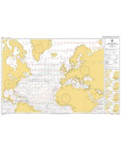 ADMIRALTY Chart 5124(8): Routeing Chart North Atlantic Ocean - August