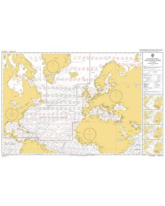 ADMIRALTY Chart 5124(10): Routeing Chart North Atlantic Ocean - October