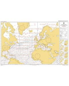 ADMIRALTY Chart 5124(12): Routeing Chart North Atlantic Ocean - December