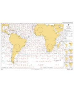 ADMIRALTY Chart 5125[01]: Routeing - South Atlantic Ocean - January