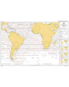 ADMIRALTY Chart 5125[04]: Routeing - South Atlantic Ocean - April