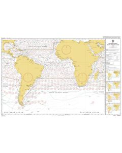 ADMIRALTY Chart 5125[06]: Routeing - South Atlantic Ocean - June