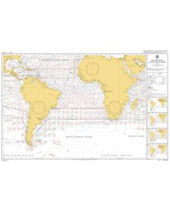 ADMIRALTY Chart 5125[07]: Routeing - South Atlantic Ocean - July