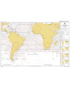 ADMIRALTY Chart 5125[08]: Routeing - South Atlantic Ocean - August