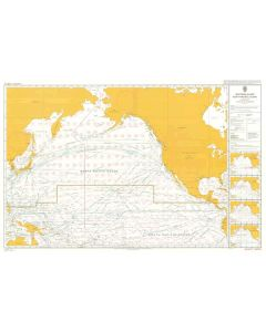 ADMIRALTY Chart 5127[08]: Routeing - North Pacific Ocean - August