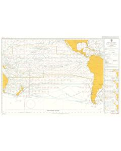 ADMIRALTY Chart 5128[08]: Routeing - South Pacific Ocean - August