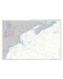 ADMIRALTY Chart 5135: Instructional Chart - Cape Breton To Delaware Bay