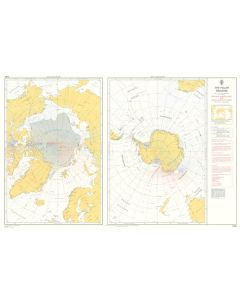 ADMIRALTY Chart 5384: The Polar Regions Magnetic Variation 2010 And Annual Rates Of Change