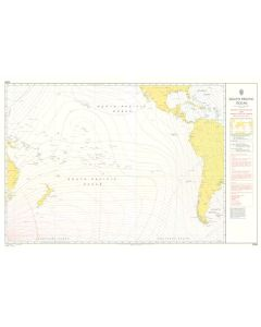 ADMIRALTY Chart 5399: South Pacific Ocean - Magnetic Variation 2010 And Annual Rates Of Change