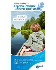 ANWB Waterkaart 5 - Kop van Overijssel, Gelderse IJssel-Noord