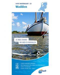 ANWB Waterkaart 20 - Wadden