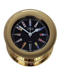 Atlantis Nautical Flag Black Dial Clock
