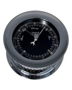 Weems & Plath Chrome Atlantis Barometer (Black Dial Matches Color Flag)