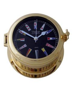 Martinique Nautical Flag Black Dial Clock