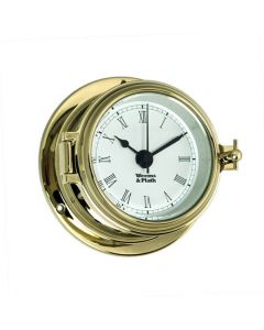 Endurance II 105 Brass Quartz Clock With Roman Numerals