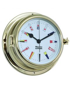 Endurance II 135 Brass Quartz Clock 12 Hour Flag Dial