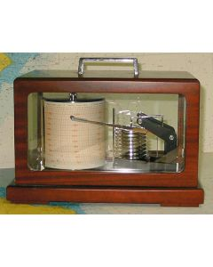 Barograph - Mahogany & Brass 8 Diaphragms with Stylus Damping