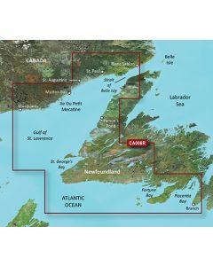 Garmin BlueChart g3 Vision - Newfoundland West (VCA008R)