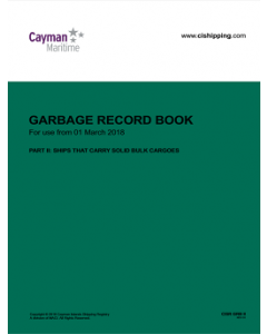 Cayman Islands Garbage Record Book Part 2 (solid bulk cargoes)