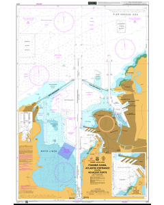 ADMIRALTY Chart CP1: Panama Canal Atlantic Entrance including Adjacent Ports