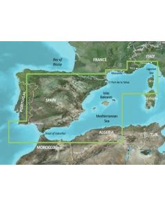 Garmin BlueChart g3 Vision - Mediterranean Sea,Genova-Ayamonte (VEU010R)