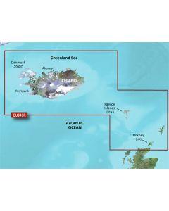 Garmin BlueChart g3 Vision - Iceland to Orkney (VEU043R)