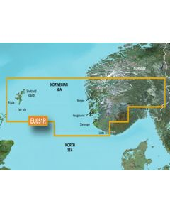 Garmin BlueChart g3 - Lista-Sognefjorden (HXEU051R)