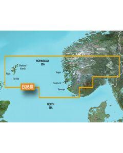 Garmin BlueChart g3 Vision - Lista-Sognefjorden (VEU051R)